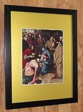 Framed 12''x16'',Bruegel print, Adoration of the Magi, masters paintings