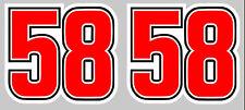 #58 SIMONCELLI 45mmX50mm 2 X AUTOCOLLANTS STICKER MOTO GRAND PRIX (CA127)