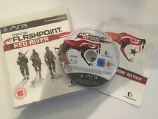 SONY PLAYSTATION 3 GAME OPERATION FLASHPOINT RED RIVER COMPLETE PAL GWO VGC