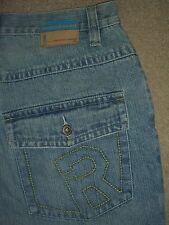 ROCA WEAR Baggy Loose 6 Pockets Light Blue Denim Jeans Mens Size 32