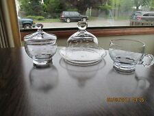 5 Piece Princess House Heritage Cream & Sugar w/Lid & Butter Plate w/Domed Lid