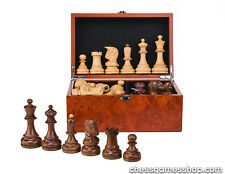 Dubrovnik ROYAL chess pieces-wooden,weighted,felted,standard-CHESSMEN in BOX