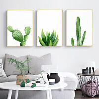 Watercolor Cactus Plants Canvas Poster Picture Print Art Home Wall Decor