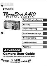 Canon Powershot A410 Digital Camera User Guide Instruction  Manual