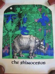 Vintage The Rhinosceros POSTER Ca 1980