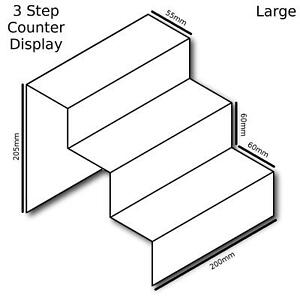 Three Tier Step Cupcake Muffin Party Perspex Acrylic Plastic Display Stand