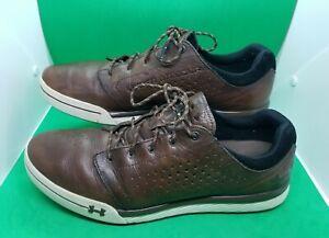 Under Armour UA Tempo Hybrid Men's Golf Shoes Brown 1270207-220 Size 11.5
