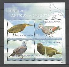 Antigua y Barbuda 2010 pájaros colección hoja de 4 sellos nueva 1er elección