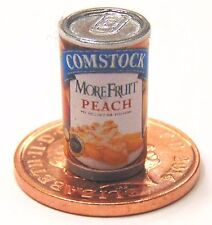 1:12 Scale Empty Peach Tin Dolls House Miniature Cans Kitchen Food Accessory