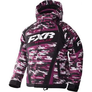 FXR™ Youth Wineberry/White Cascade Snowmobile Jacket 170403-8502-XX