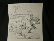 Halladay-Original Cartoon- FDR/WPA Spending Programs Out of Control