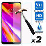 【2-Pack】 Premium Tempered Glass Screen Protector Guard For LG G6 / LG G7 ThinQ