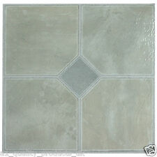 60 x Vinyl Floor Tiles - Self Adhesive, Bathroom Kitchen - Pale Grey Classic 181