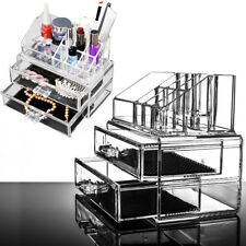 Acrylic Cosmetic Makeup Jewelry Cases Organizer Display Holder Drawers Storage