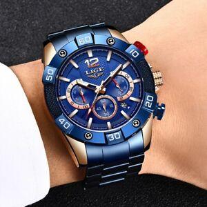 """Rolex """"LIGE""""  Blue Mens Watch"""