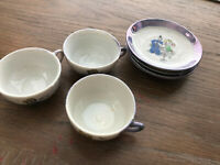 Betty Boop Vintage Tea Set  7 Pieces Made in Japan Color Periwinkle