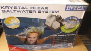 Intex Krystal Clear Saltwater System CS-8110  ( up to 15,000 gallon pools  )
