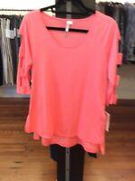 Small Lulu B Hi-low Coral Tunic Retail $49