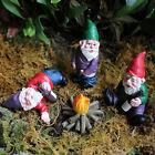 4Pcs+Mini+Fairy+Garden+Gnome+Statues+Drunk+Peeing+Sleeping+Dwarf+Figure+Decor+US