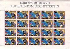 LIECHTENSTEIN - FUERSTENTUM LIECHTENSTEIN EUROPA 1967 - RARO FOGLIETTO