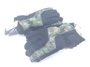 2 MINUS ZERO Mens Ski Gloves Size 8-20 Black / Camouflage Thinsulate 3M 40g New
