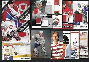 MONTREAL CANADIENS YOUNG GUNS ROOKIE AUTOGRAPH JERSEY NHL HOCKEY CARD SEE LIST