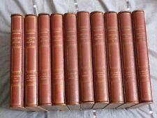 Georges Duhamel, Chronique des Pasquier (10 tomes/10) reliure plein cuir