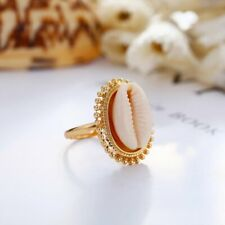 2020 Fashion Boho Nature Beach Cowrie Seashell Ring handmade Band Rings Jewelry