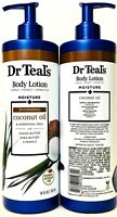 2 Ct Dr Teal's 18 Oz Moisture & Nourishing Coconut Oil Cocoa Butter Body Lotion
