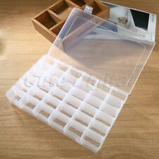 36 Compartments Plastic Storage Box Bin Jewellery Earring Case Craft Container