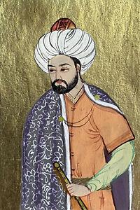 Murad 4th Turkish Sultan Miniature Painting Islamic Art Ottoman Treasures