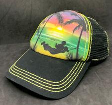 Walt Disney Parks Mickey Mouse Beach Hammock Mesh Snapback Hat Women's