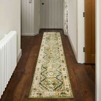 New Green Traditional Runner Rugs Long Hallway Vintage Hall Mats Distressed Rugs