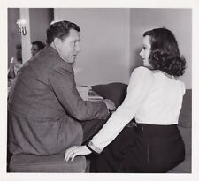 HEDY LAMARR SPENCER TRACY Original CANDID Dressing Room Vintage 1940 MGM Photo