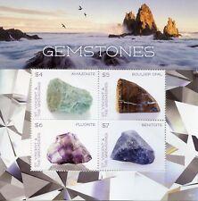 St Vincent & Grenadines 2018 MNH Gemstones Opal 4v M/S I Minerals Stamps