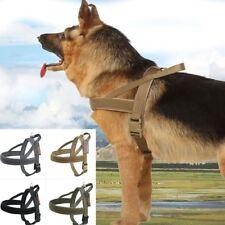 Tactical Nylon Adjustable Dog Training Vest Dog Leashes Constraint Band XS/S/M/L
