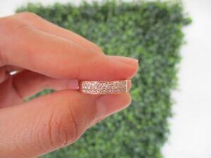 .26 CTW Diamond Half Eternity Ring 18k Rose Gold HE64 sep *