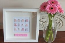 PERSONALISED PICTURE TEDDIES NEW BABY/ CHRISTENING/ NURSERY IN BOX FRAME GIFT