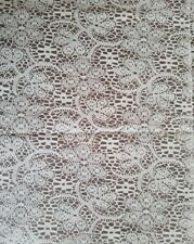 White Lace Look Overlay 150 ft Plastic Banquet Table Cover Roll Tablecloth