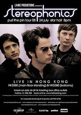 """STEREOPHONICS """"PULL THE PIN TOUR 2008"""" LIVE IN HONG KONG CONCERT POSTER-Alt Rock"""