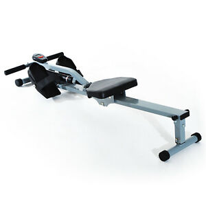 Rowing Machine Fitness Cardio Equipment w/ LCD Display Home Gym Workout Compact