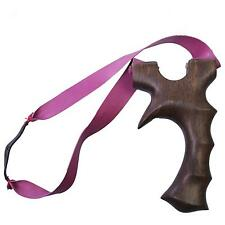 NEW Theraband Rosewood Slingshot Powerful Hunting Wood Catapult