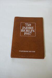 DDR - Mappe - 750 Jahre Berlin 1987 - 4 X 5 Mark