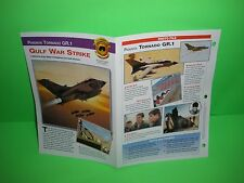 PANAVIA TORNADO GR.1 GULF WAR STRIKE AIRCRAFT FACTS CARD AIRPLANE BOOK 179