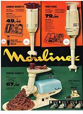 PUBLICITE ADVERTISING  1963   MOULINEX  robot & combiné