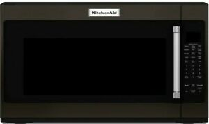 KitchenAid 2-cu ft Over-the-Range Microwave with Sensor Cooking Black Stainless