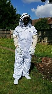 Beekeeper suit Beekeeping Bee Suit with Fencing Veil including Bee Gloves- 3XL