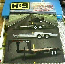 Factory 2004 Hamps Deck Over Trailers Utility Dealership Spec Brochure Manual