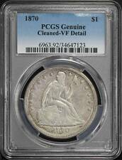 1870 Seated Liberty Silver Dollar PCGS VF Details Cleaned -167939