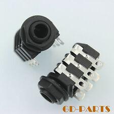 """1/4"""" Stereo Female Microphone Jack Guitar AMP Socket 6 solder lug Panel mount*20"""